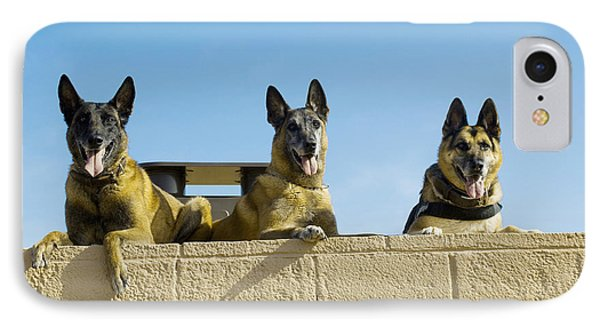 German Shephard Military Working Dogs Phone Case by Stocktrek Images