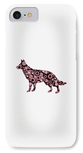 German Shepherd - Animal Art IPhone Case by Anastasiya Malakhova