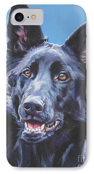 German Shepherd Black IPhone Case by Lee Ann Shepard