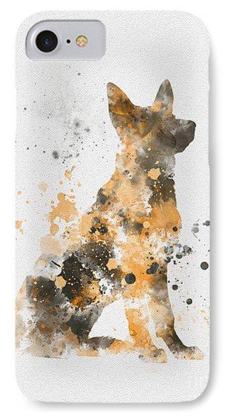 German Shepherd IPhone Case by Rebecca Jenkins