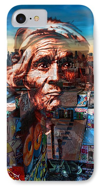 Ghost Tribe Native Americans In New York Red IPhone Case by Tony Rubino