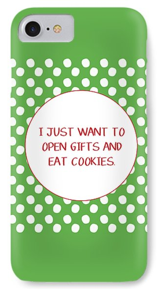 Gifts And Cookies- Art By Linda Woods IPhone Case by Linda Woods