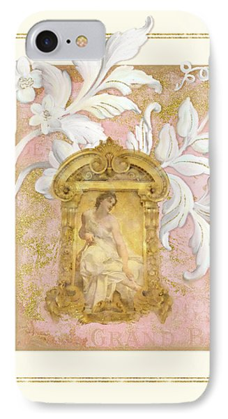 Gilded Age I - Baroque Rococo Palace Ceiling Inspired  IPhone Case by Audrey Jeanne Roberts