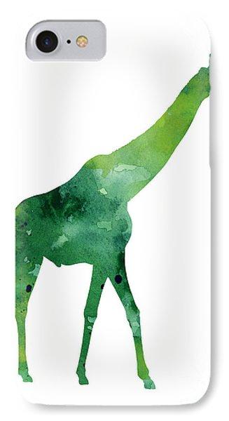 Giraffe African Animals Gift Idea IPhone 7 Case by Joanna Szmerdt