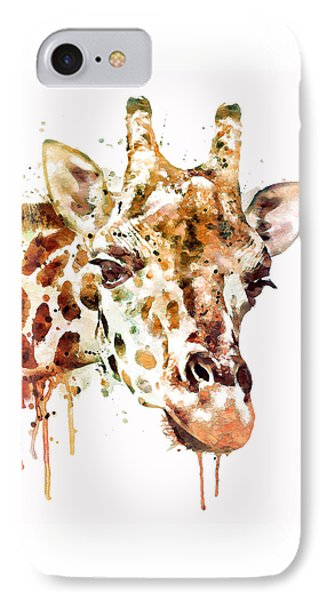 Giraffe Head IPhone Case by Marian Voicu