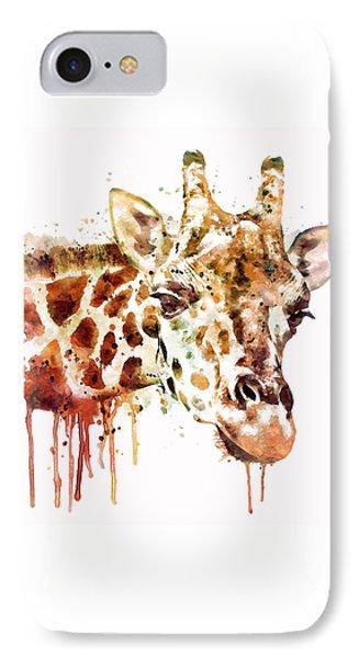 Giraffe Head IPhone 7 Case by Marian Voicu