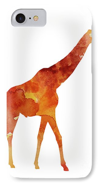 Giraffe Minimalist Painting For Sale IPhone Case by Joanna Szmerdt