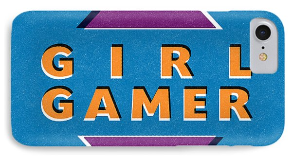 Girl Gamer IPhone Case by Linda Woods
