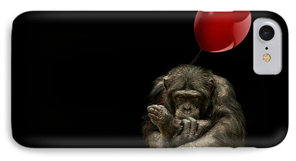Girl With Red Balloon IPhone 7 Case by Paul Neville