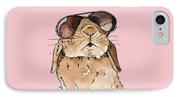 Glamorous Rabbit IPhone 7 Case by Katrina Davis