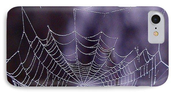 Glistening Web Phone Case by Karol Livote