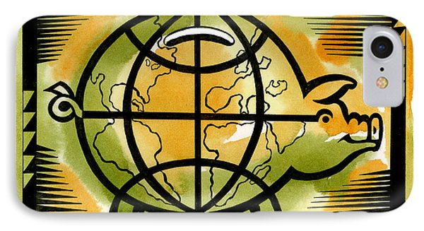Global Investment IPhone Case by Leon Zernitsky