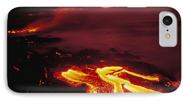 Glowing Lava Flow Phone Case by Peter French - Printscapes