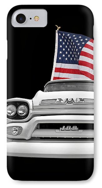 Gmc Pickup With Us Flag IPhone Case by Gill Billington