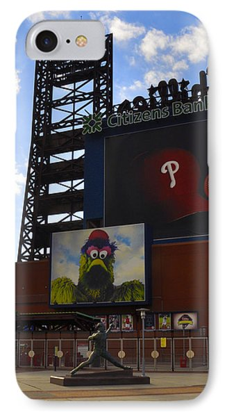 Go Phillies - Citizens Bank Park - Left Field Gate Phone Case by Bill Cannon