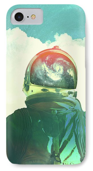 God Is An Astronaut IPhone Case by Fran Rodriguez