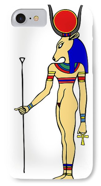 God Of Ancient Egypt - Hathor IPhone Case by Michal Boubin