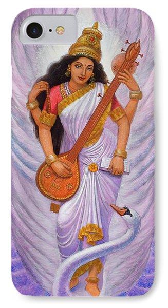 Goddess Saraswati Phone Case by Sue Halstenberg
