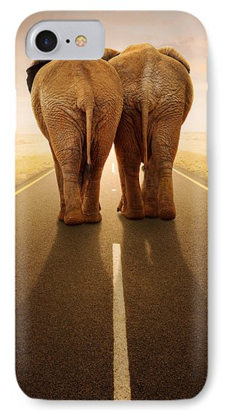 Going Away Together / Travelling By Road IPhone Case by Johan Swanepoel