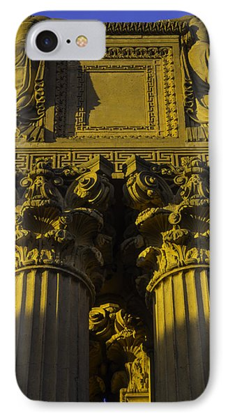 Golden Columns Palace Of Fine Arts IPhone Case by Garry Gay