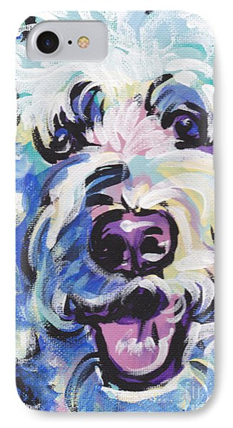 Golden Doodly Dee IPhone Case by Lea S