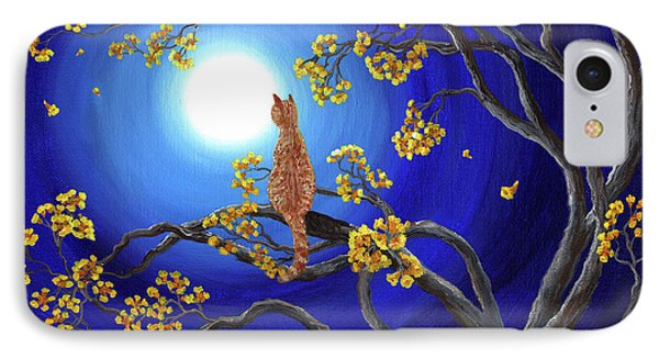 Golden Flowers In Moonlight IPhone Case by Laura Iverson