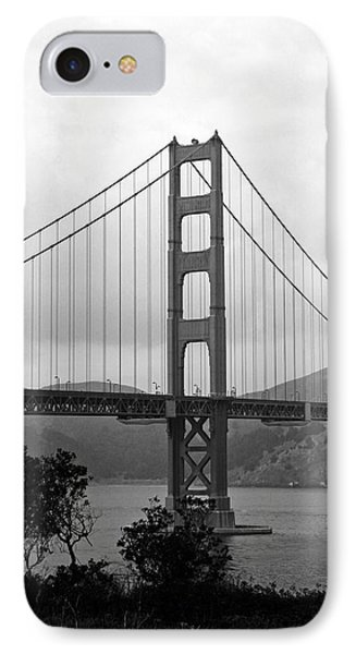 Golden Gate Bridge- Black And White Photography By Linda Woods IPhone Case by Linda Woods