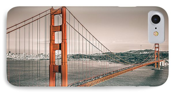 Golden Gate Bridge Selective Color IPhone Case by James Udall