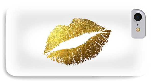 Gold Lips IPhone 7 Case by Bekare Creative