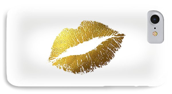 Gold Lips IPhone Case by Bekare Creative