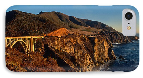Golden Glow On Big Sur 2 IPhone Case by Kathy Yates