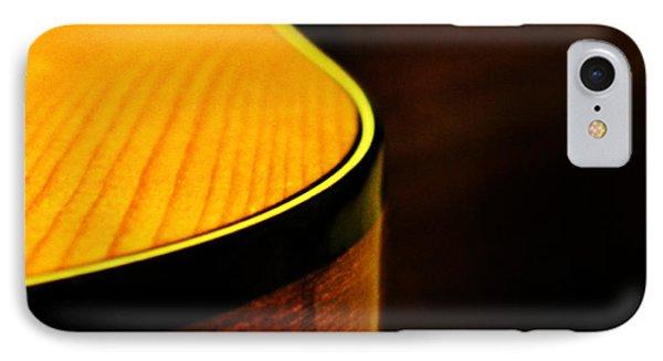 Golden Guitar Curve IPhone Case by Deborah Smith
