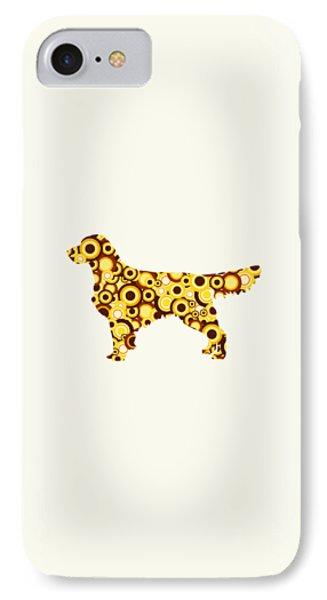 Golden Retriever - Animal Art IPhone Case by Anastasiya Malakhova