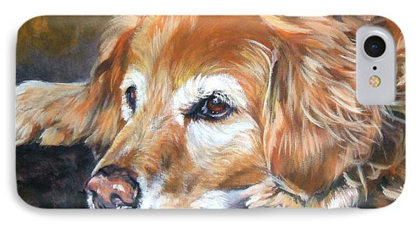 Golden Retriever Senior IPhone Case by Lee Ann Shepard