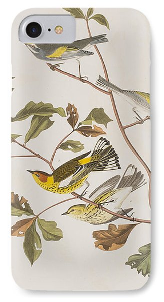Golden Winged Warbler Or Cape May Warbler IPhone 7 Case by John James Audubon