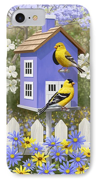 Goldfinch Garden Home IPhone Case by Crista Forest