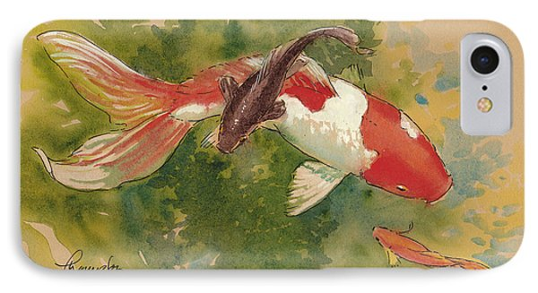 Goldfish Crossing IPhone Case by Tracie Thompson