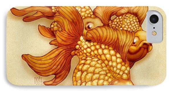 Goldfish IIi IPhone Case by Catherine Noel