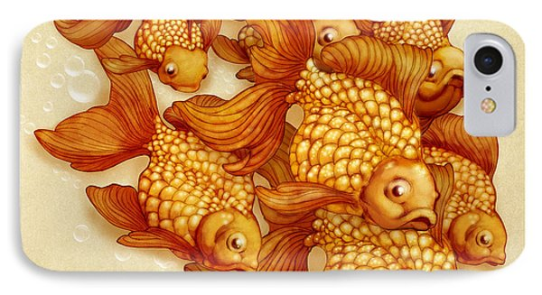 Goldfish On The Go IPhone Case by Catherine Noel