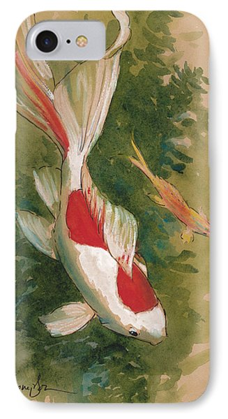 Goldfish Pair IPhone Case by Tracie Thompson