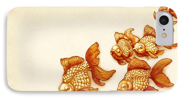 Goldfish School IPhone Case by Catherine Noel