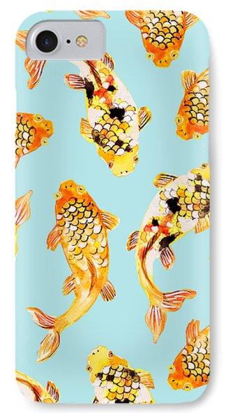 Goldfish IPhone 7 Case by Uma Gokhale