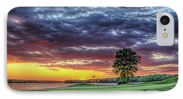 Golf Sunset Number 4 The Landing Reynolds Plantation Golf Art IPhone Case by Reid Callaway