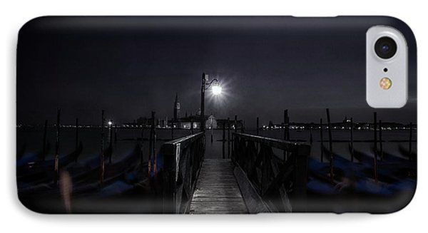 Gondolas In The Night IPhone Case by Andrew Soundarajan