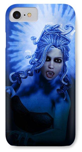 Gorgon Blue IPhone Case by Joaquin Abella