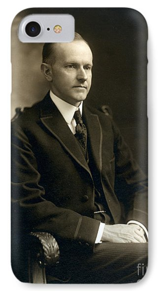 Governor Calvin Coolidge, 1919 IPhone Case by Science Source