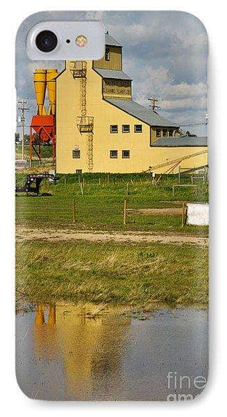 Grain Elevator In Balzac Alberta Phone Case by Louise Heusinkveld