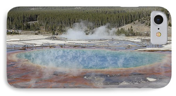 Grand Prismatic Spring, Midway Geyser Phone Case by Richard Roscoe