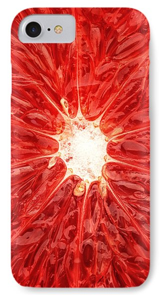 Grapefruit Close-up IPhone 7 Case by Johan Swanepoel