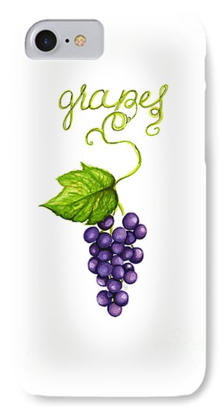 Grapes IPhone Case by Cindy Garber Iverson